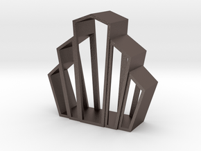 Art Deco Object in Polished Bronzed-Silver Steel