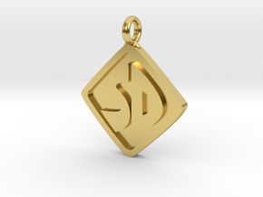 Scooby Doo Pendant - 1.1 inches in Polished Brass