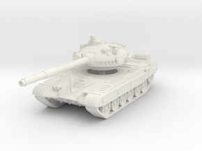 T-72 A 1/76 in White Natural Versatile Plastic