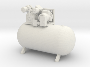 1/50th Large Horizontal Shop type Air Compressor in White Natural Versatile Plastic