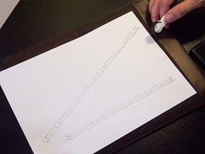 #FEELINGS - Stamp Roller in White Processed Versatile Plastic