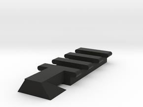 Front Top Rival Rail for Nerf Mercury XIX-500 in Black Natural Versatile Plastic