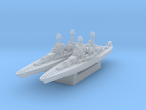 USS California (Axis & Allies) in Smooth Fine Detail Plastic