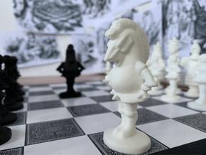 KNIGHT - Alice's Adventures in Wonderland in White Processed Versatile Plastic