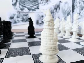 ROOK- Alice's Adventures in Wonderland in White Processed Versatile Plastic