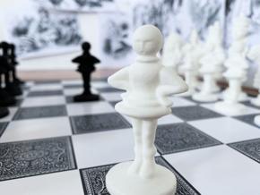 PAWN- Alice's Adventures in Wonderland in White Processed Versatile Plastic