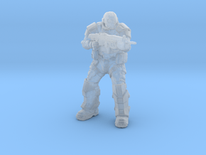 Gears of War UIR Soldier miniature boardgame size in Smooth Fine Detail Plastic