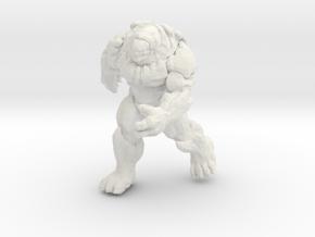 Gears of War Berserker miniature boardgame size in White Natural Versatile Plastic