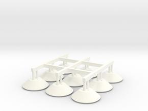 S1-238 Lampenschirm f 3mm LED in White Processed Versatile Plastic