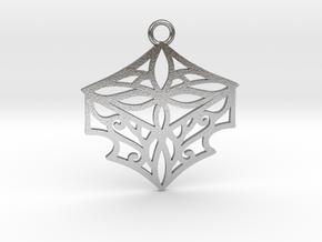 Adalina pendant metal in Natural Silver: Medium