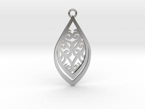 Nessa pendant steel in Natural Silver: Medium