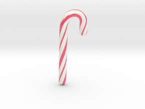 Candy cane lovely - Medium Large in Glossy Full Color Sandstone