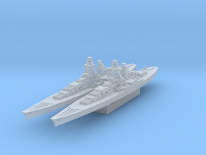 Alsace battleship (Axis & Allies) in Smooth Fine Detail Plastic