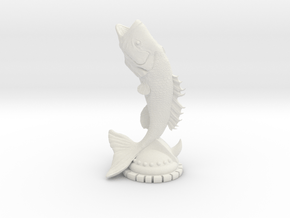 FISH_STATUE in White Natural Versatile Plastic: Medium