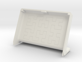 LargeCover for pimoroni inky wHAT and raspberry pi in White Natural Versatile Plastic