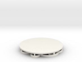 Circles Coaster in White Natural Versatile Plastic