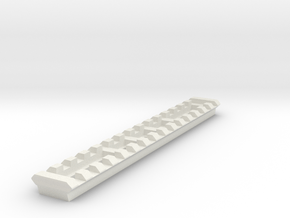 15 Slots Picatinny Rail for Surly 8-Pack Rack in White Natural Versatile Plastic