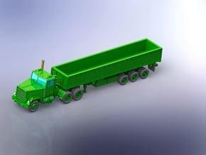 M915 Tractor w. M872 Breakbulktrailer 1/144 in Smooth Fine Detail Plastic