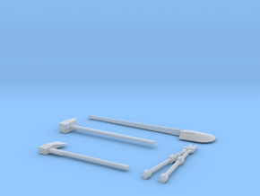1-16 Engineer tools for WWII german military vehic in Smooth Fine Detail Plastic