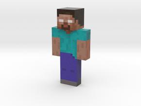 herobrine | Minecraft toy in Natural Full Color Sandstone