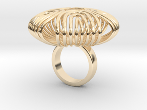140 ring - 2 in 14k Gold Plated Brass