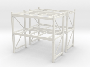 1/50th Shop or Warehouse pallet rack shelving (2) in White Natural Versatile Plastic