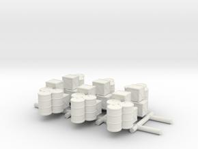 1/285 Supply Stock Pile (x6) in White Natural Versatile Plastic