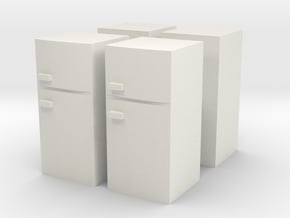 Fridge (x4) 1/87 in White Natural Versatile Plastic