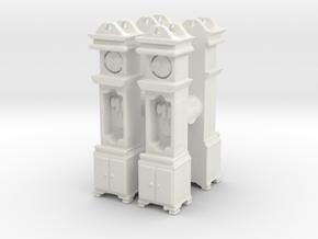Pendulum Clock (x4) 1/87 in White Natural Versatile Plastic