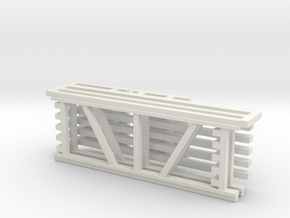 36X96 & 96 Beam Kit 1-87 HO Scale in White Natural Versatile Plastic