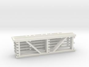 36X120 & 120 Beam Kit 1-87 HO Scale in White Natural Versatile Plastic