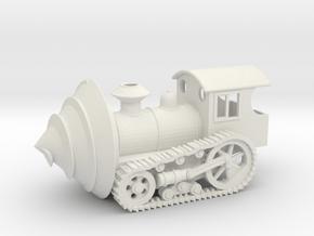 Steampunk mole machine in White Natural Versatile Plastic: Small