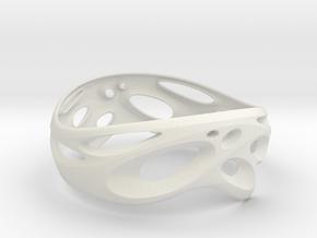 Bangle-03 in White Natural Versatile Plastic