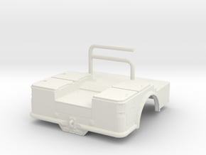 1/64th Welding Bed for Greenlight Dually in White Natural Versatile Plastic