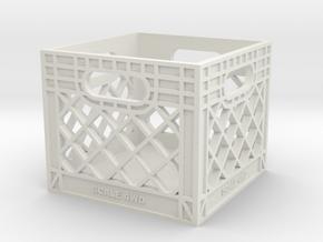 Milk Crate in White Natural Versatile Plastic: 1:16