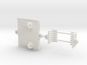 CFX-W ESC MOUNT for Hobbywing Xerun AXE  in White Natural Versatile Plastic