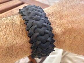 HYBRID CUFF  in Black Natural Versatile Plastic: Medium