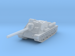 SU-100 tank 1/144 in Smooth Fine Detail Plastic