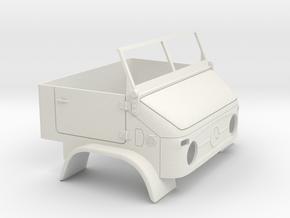 Unimog U404 & Front window 1:10 in White Natural Versatile Plastic: 1:10