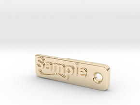 Material Sample - Sample Stand (ALL MATERIALS) in 14K Yellow Gold