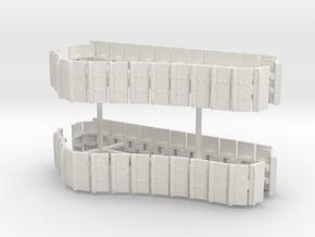 1/64th DM Cat Dozer tracks in White Natural Versatile Plastic