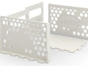 HoneyComb Box in White Natural Versatile Plastic