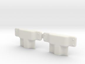 EC135 Door hardware 1/4 in White Natural Versatile Plastic