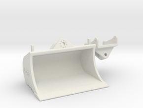 Schwenktieflöffel QC80 / tilt bucket QC80 in White Natural Versatile Plastic: 1:50