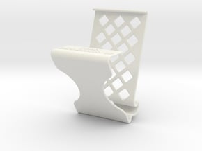 phone holder with charger slot in White Natural Versatile Plastic