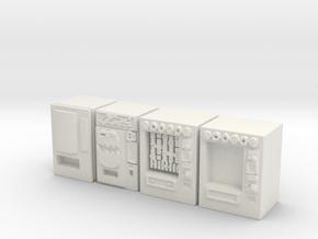 Snack machines (x4) 1/100 in White Natural Versatile Plastic