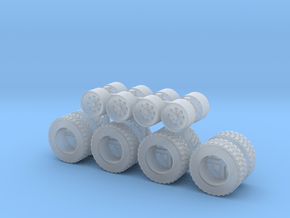 1:50 Small Tag trailer rims and tires Qty 8  in Smooth Fine Detail Plastic