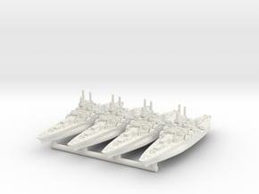 Tennessee Class Battleship (1942) [x4] in White Natural Versatile Plastic