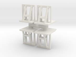 Crowd barrier (x4) 1/72 in White Natural Versatile Plastic