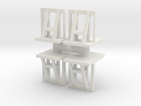 Crowd barrier (x4) 1/48 in White Natural Versatile Plastic